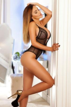 Neda posing sensual for Movida Escorts