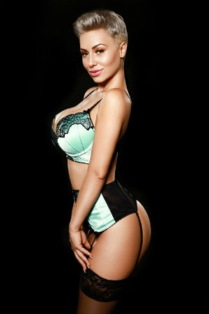 Galina posing for Movida Escorts.
