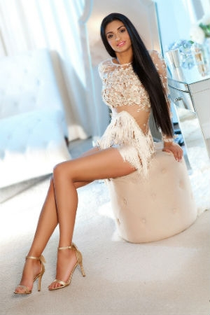 Jesica wearing white lace dress