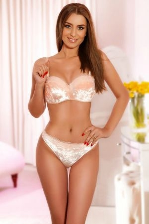 Stacy posing for Movida Escorts