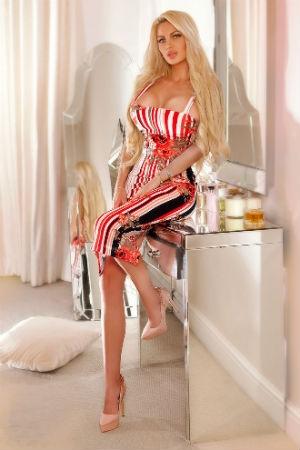 Beautiful blonde wearing sexy dress