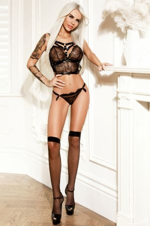 Angie wearing black lingerie