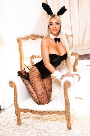 Ayda wearing sexy playboy bunny outfit