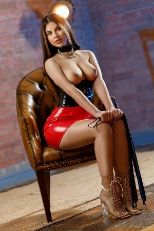 Cataleya wearing latex outfit